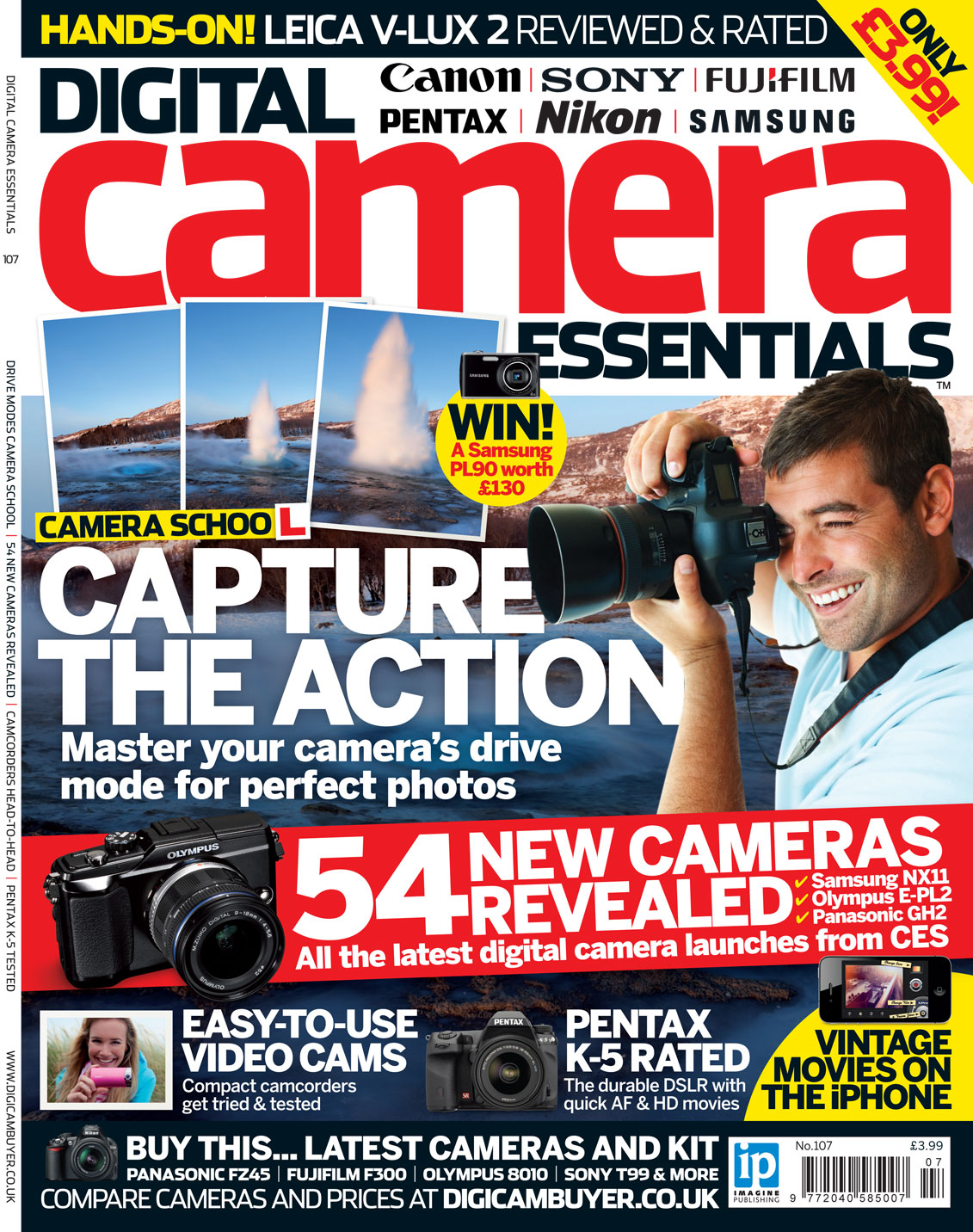 Writing features and reviews for Digital Camera Essentials