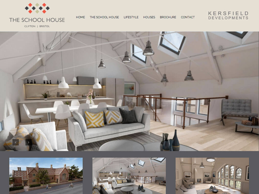 Web Development for The School House in Clifton, Bristol