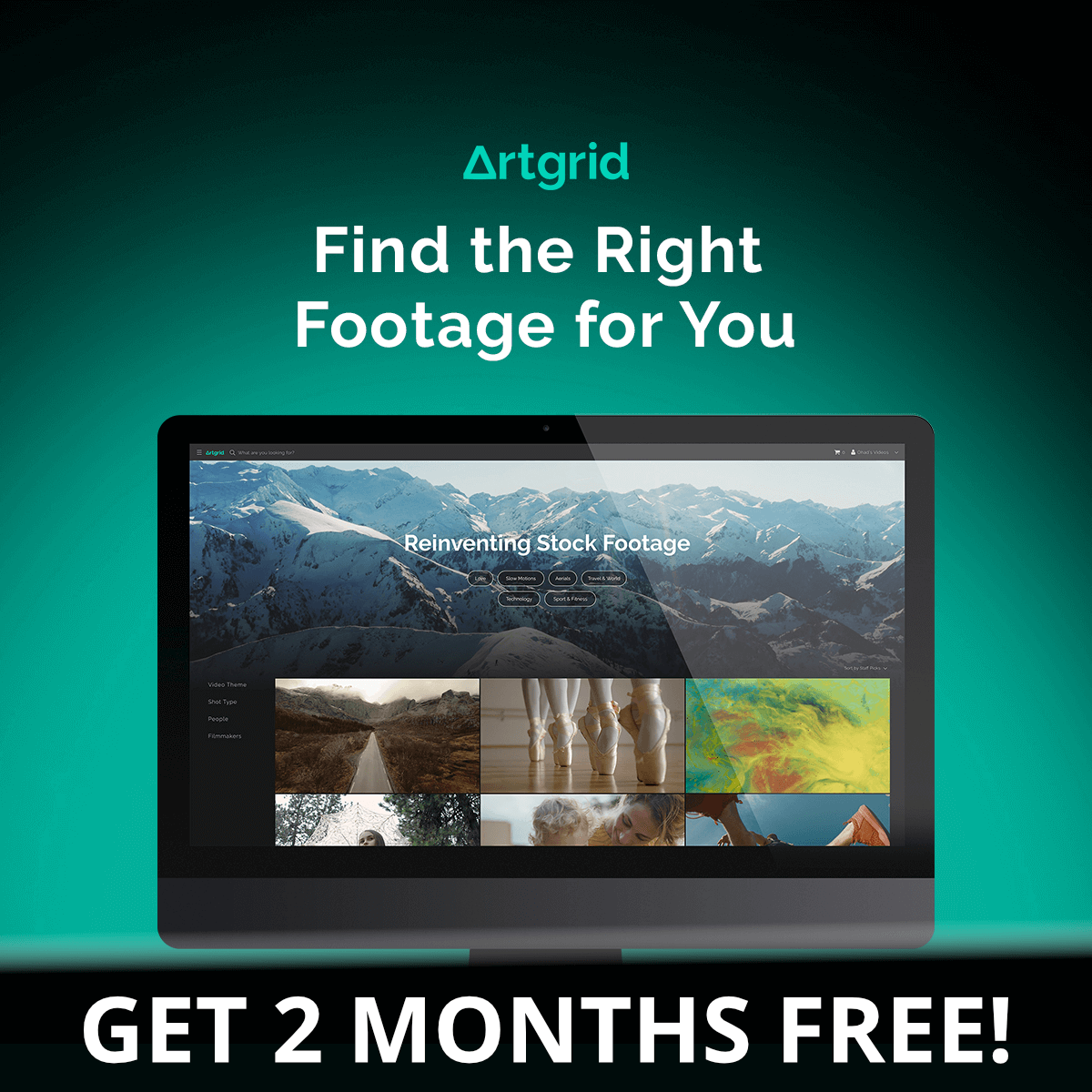 Artgrid 2 months free worth up to $99