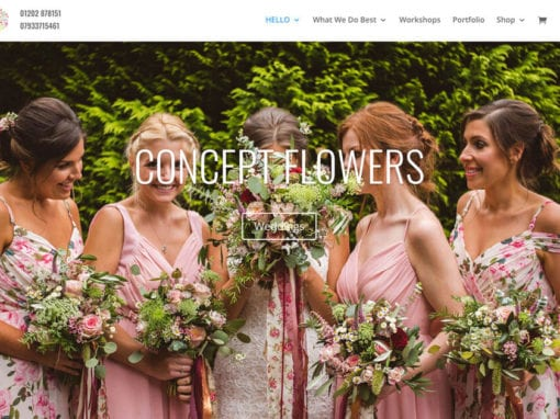Concept Flowers Website Build