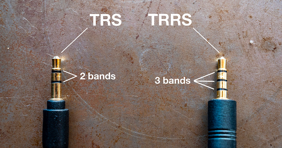 TRS and TRRS microphone jack visual comparison