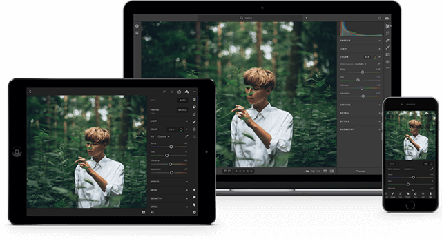 Adobe Lightroom Interface