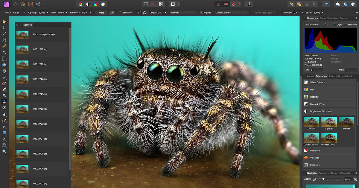 Affinity Photo Interface