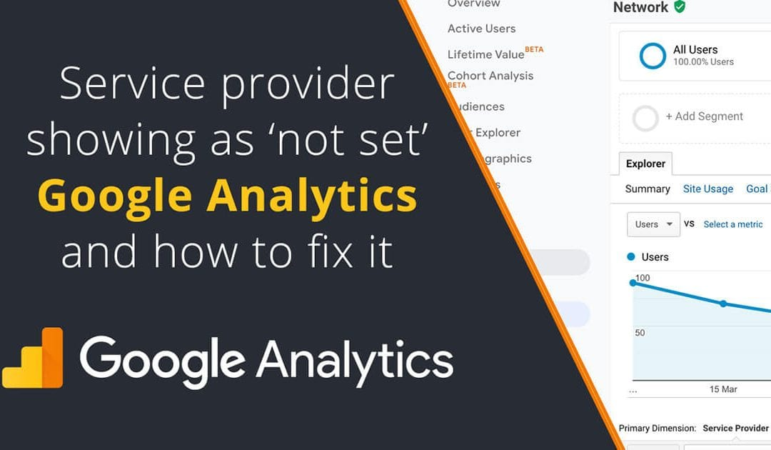 Service provider showing as not set in Google Analytics