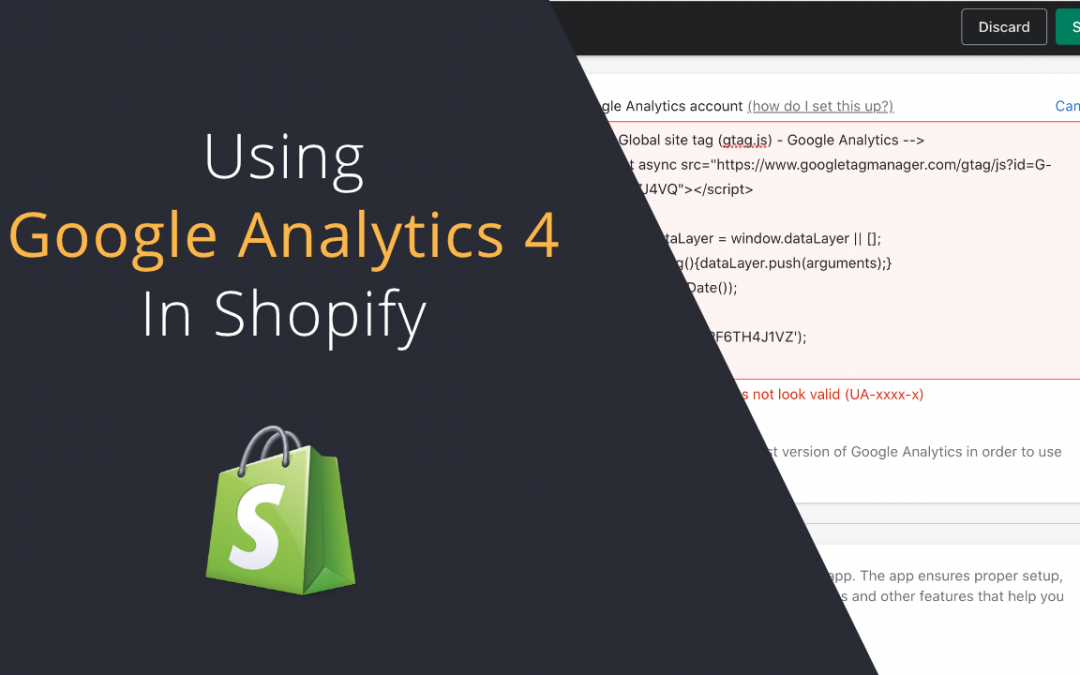 Install Google Analytics 4 to Shopify | Analytics snippet does not look valid